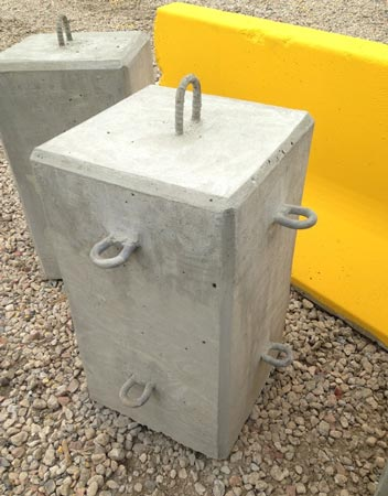 Concrete Barrier Connector 90 degree